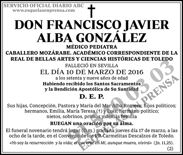 Francisco Javier Alba González